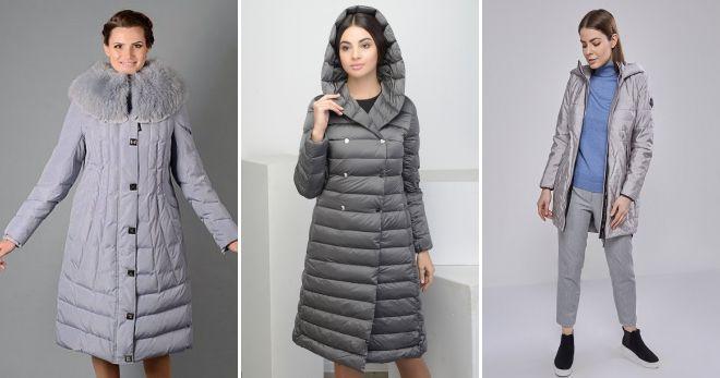 Gray down coat