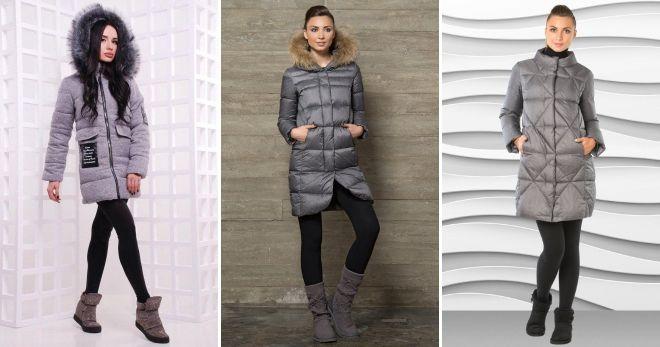 Women's gray down jacket