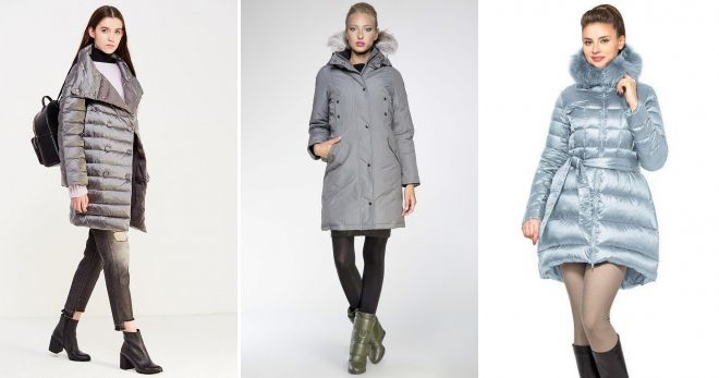 What can I wear with gray down jacket to the knee