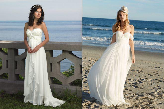 aerial beach wedding dress