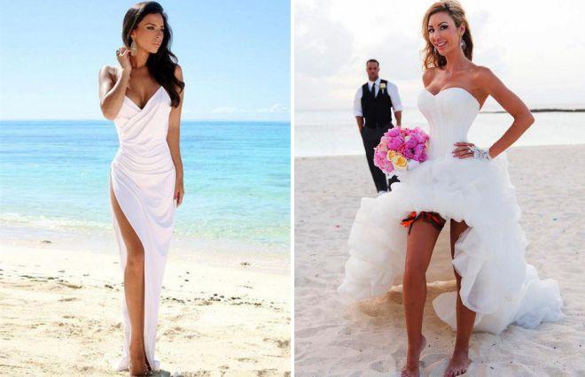 beach wedding image of a bride