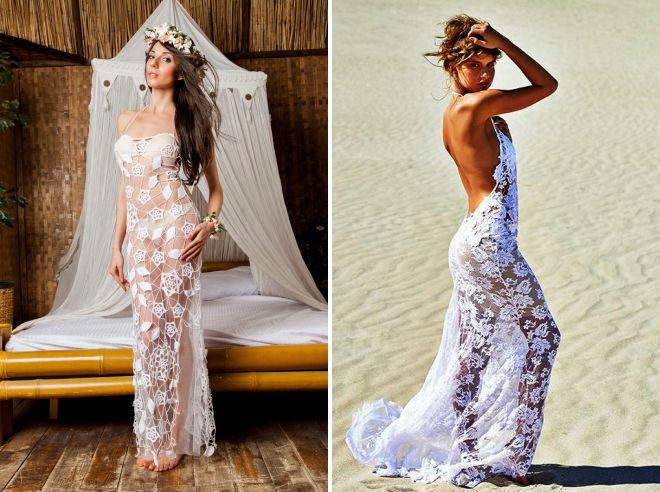 open beach wedding dress