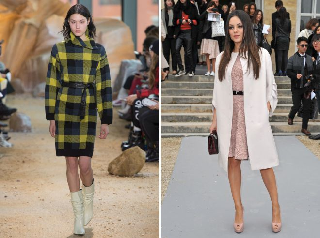 what shoes to wear with a coat to the knee