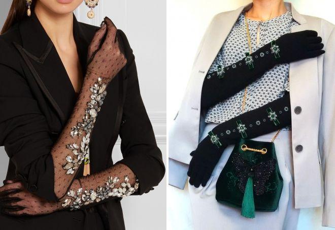 long black gloves