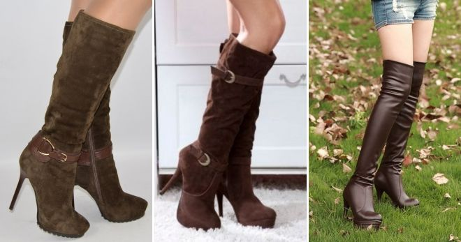 How To Wear Brown High Heel Boots
