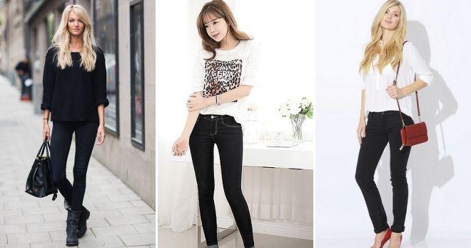 Модные цвета джинсов 2019 черный