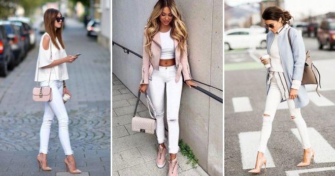 Модные цвета джинсов 2019 белый