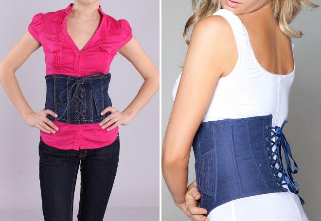 denim belt corset