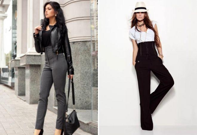 pants with corset belt