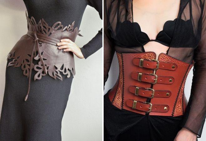 leather belt corset