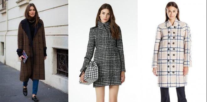 Fashionable plaid coat