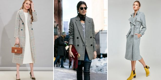 Coat in a small cell gray