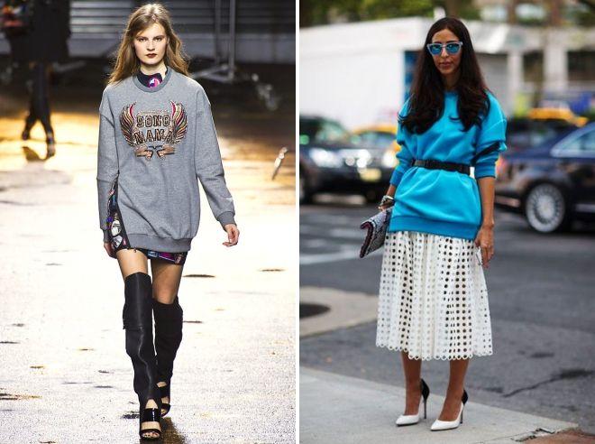 what to wear long sweatshirt
