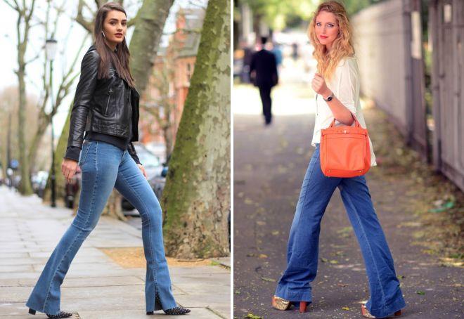 shoes under jeans