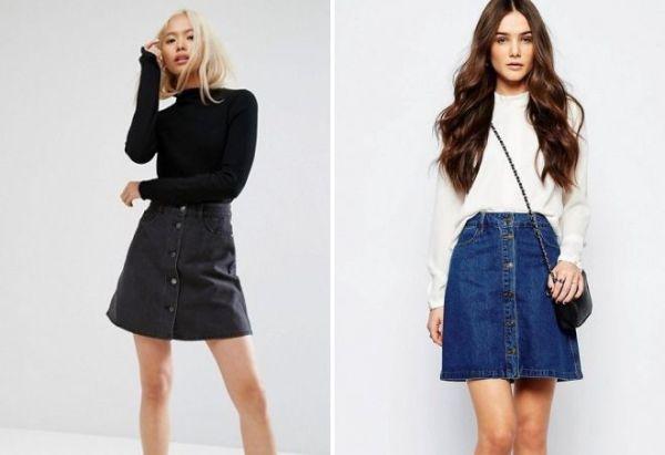 Стильная джинсовая юбка – длинная в пол, миди, короткая ...
