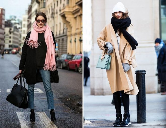 how to wear a tippet with an oversized coat