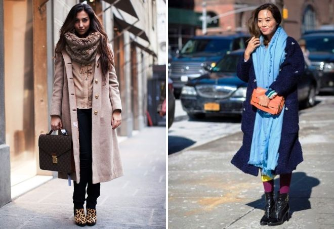 how to wear a tipple with a long coat