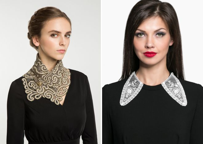 beautiful lace collars