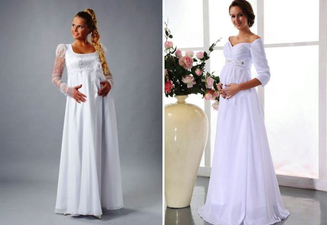 Maternity Wedding Dress with Sleeves