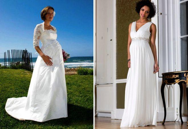 pregnant girls in wedding dresses