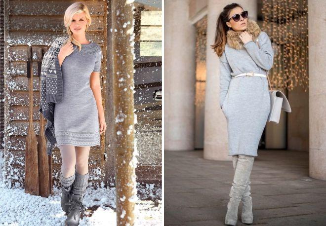 ff6f7504896c Платье серое трикотаж. Стильное и уютное серое трикотажное платье ...