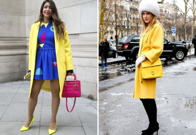 bow with a yellow coat