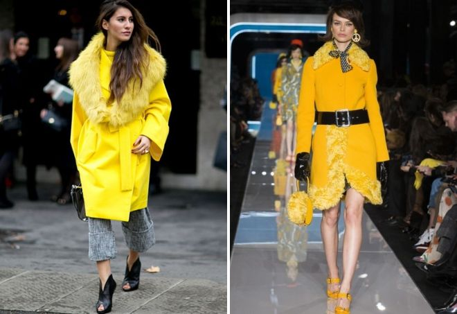 what to combine yellow coat with