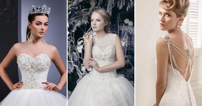 Fluffy wedding dresses 2019 pearls