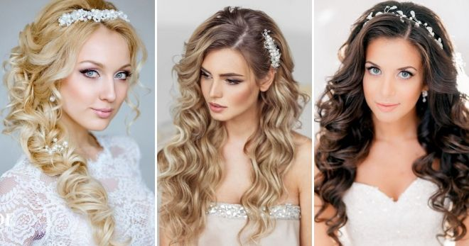 Wedding hairstyles for long hair 2019 curls