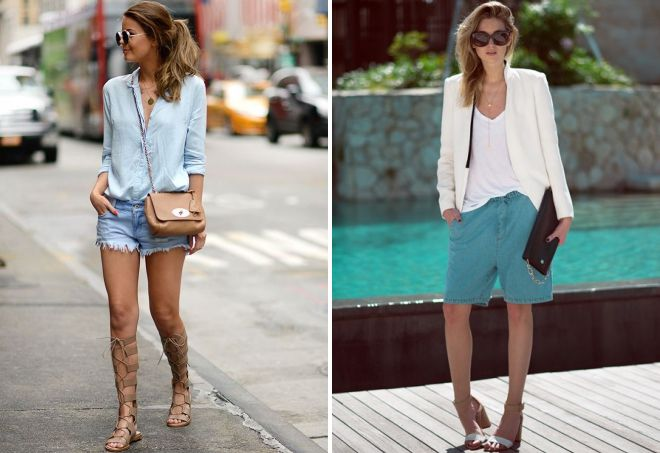 summer sandals with shorts