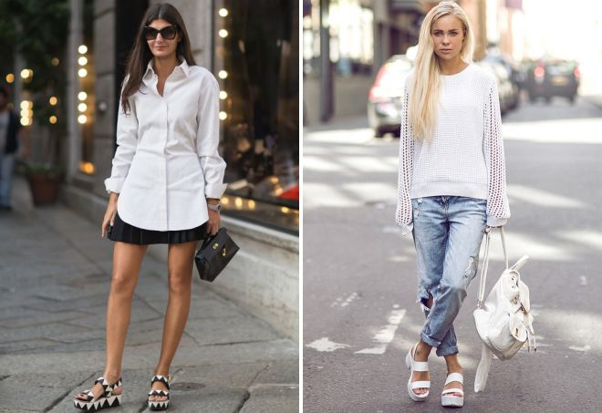 what to wear with platform sandals
