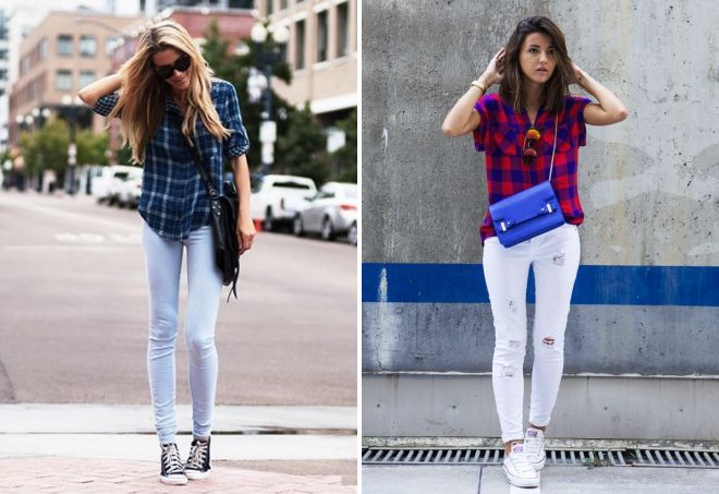 jeans sneakers and shirt