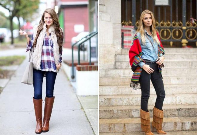 shirt jeans and boots