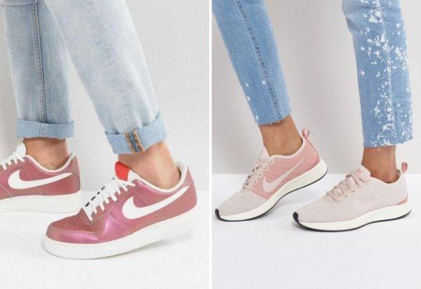Модные женские розовые кроссовки Найк Адидас Пума