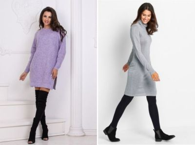 Knitted dress with lurex