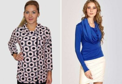Blouse with collar