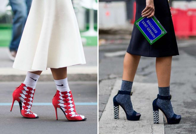 how to wear socks with sandals