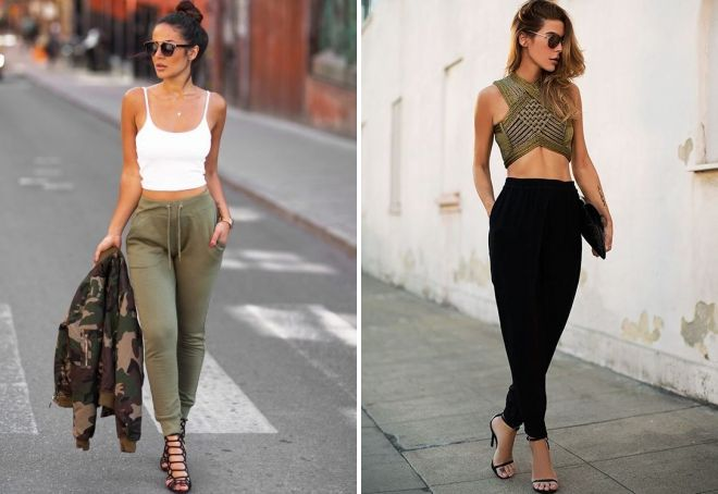female joggers with top
