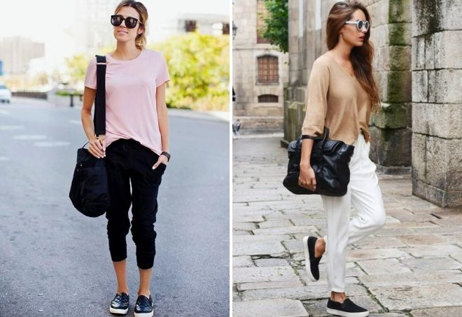 what to wear with women's jogger pants