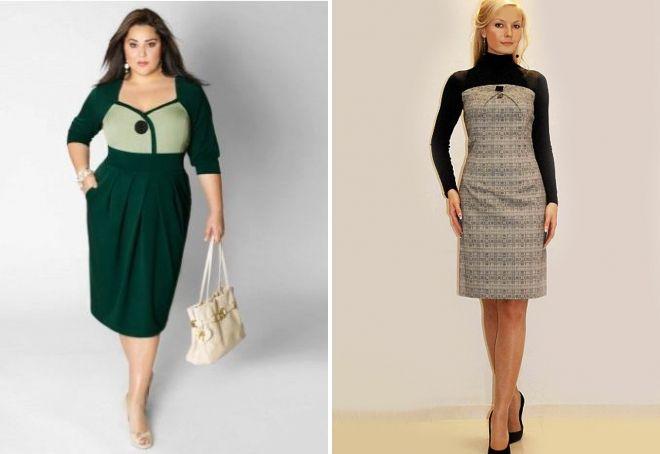 sheath dress with a yoke for full