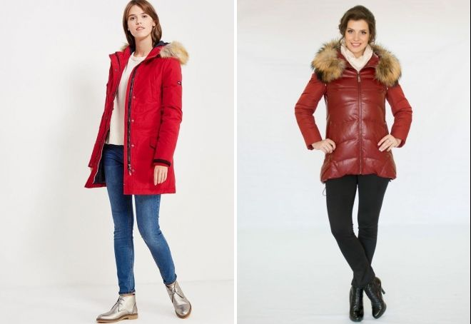 what to wear with a down jacket with fur to the knee