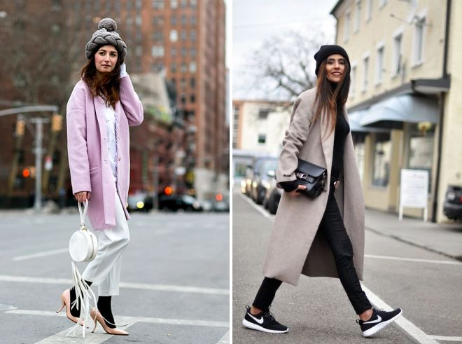 what to wear with gray pink coat
