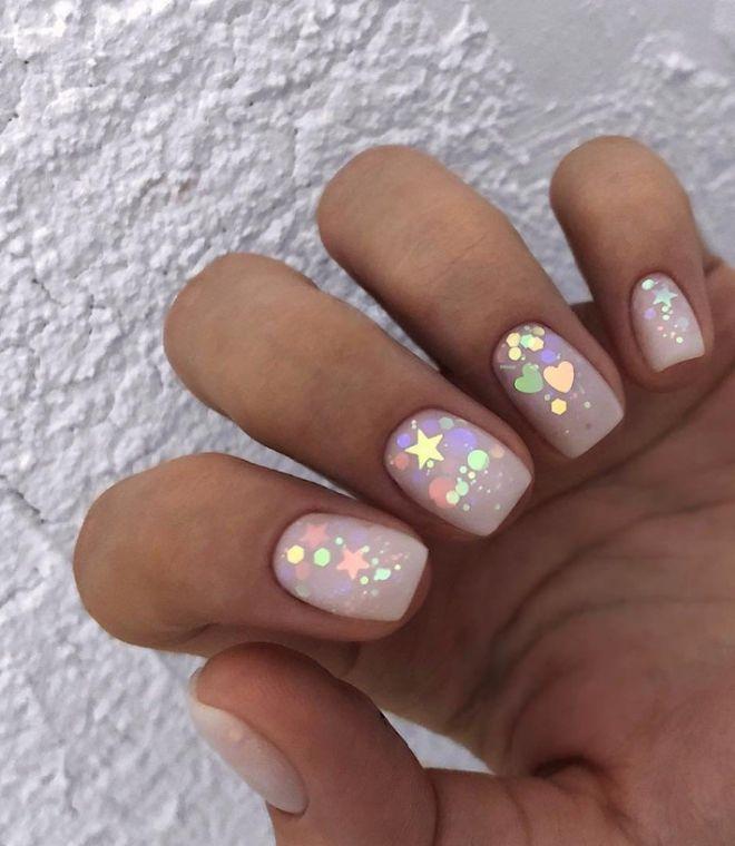 дизайн ногтей с камифубиками 3