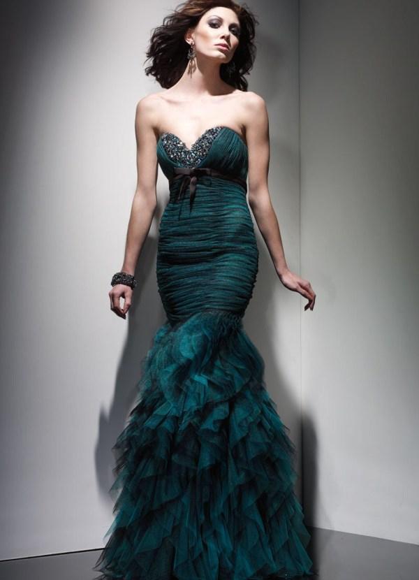 Длинные вечерние платья 2013