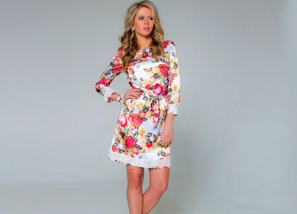 Модели летних платьев для женщин за 40