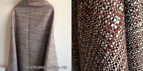 Также летнее пальто. Очень красивая итальянская ткань