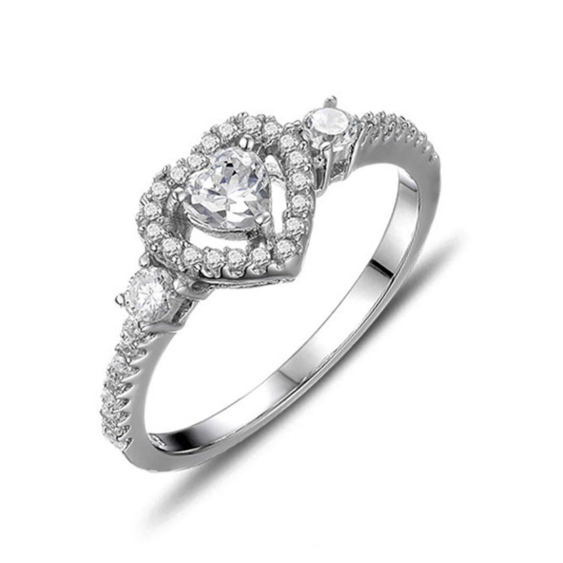 Minimal Heart Shaped Diamond Engagement Ring ER 006 | Womandilax™ | Shop  Womenu0027s Jewelry U0026 Accessories