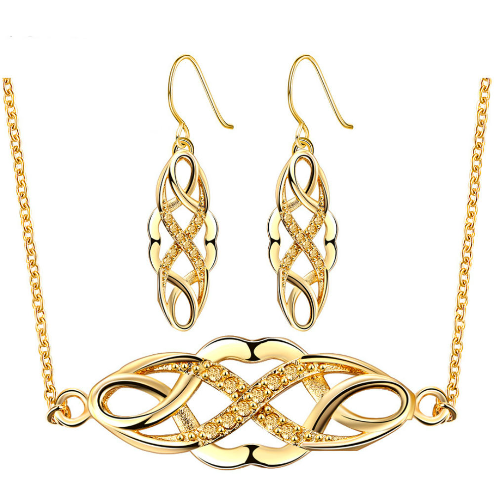Royal Gold Vintage Infinity Jewelry Set for Ladies PN048