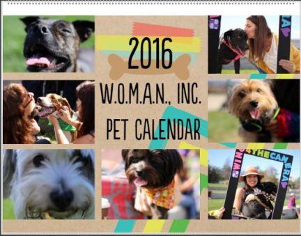 2016 Pet Calendar Cover