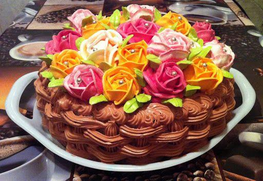 Как украсить торт на 8 марта в домашних условиях, чтобы ...